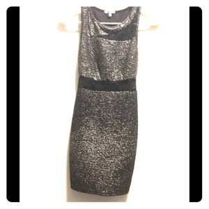 Charlotte Russe Black and silver bodycon minidress